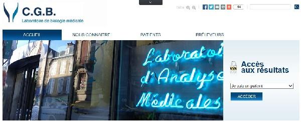 CGB - Laboratoire de Biologie M&eacute;dicale Cayrou.Gorse.Bourjeili RODEZ<br /> Notre site internet avec l&#039;acc&egrave;s au serveur de r&eacute;sultats<br /> www.labo-cgb.fr